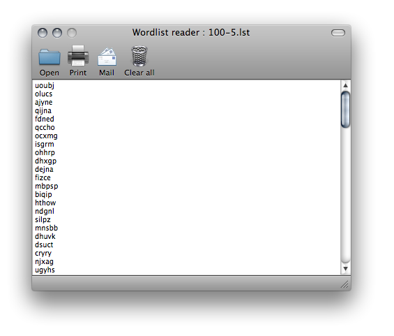 Wordlist reader